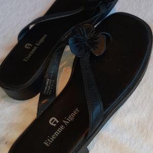 Etienne Aigner slip on sandals